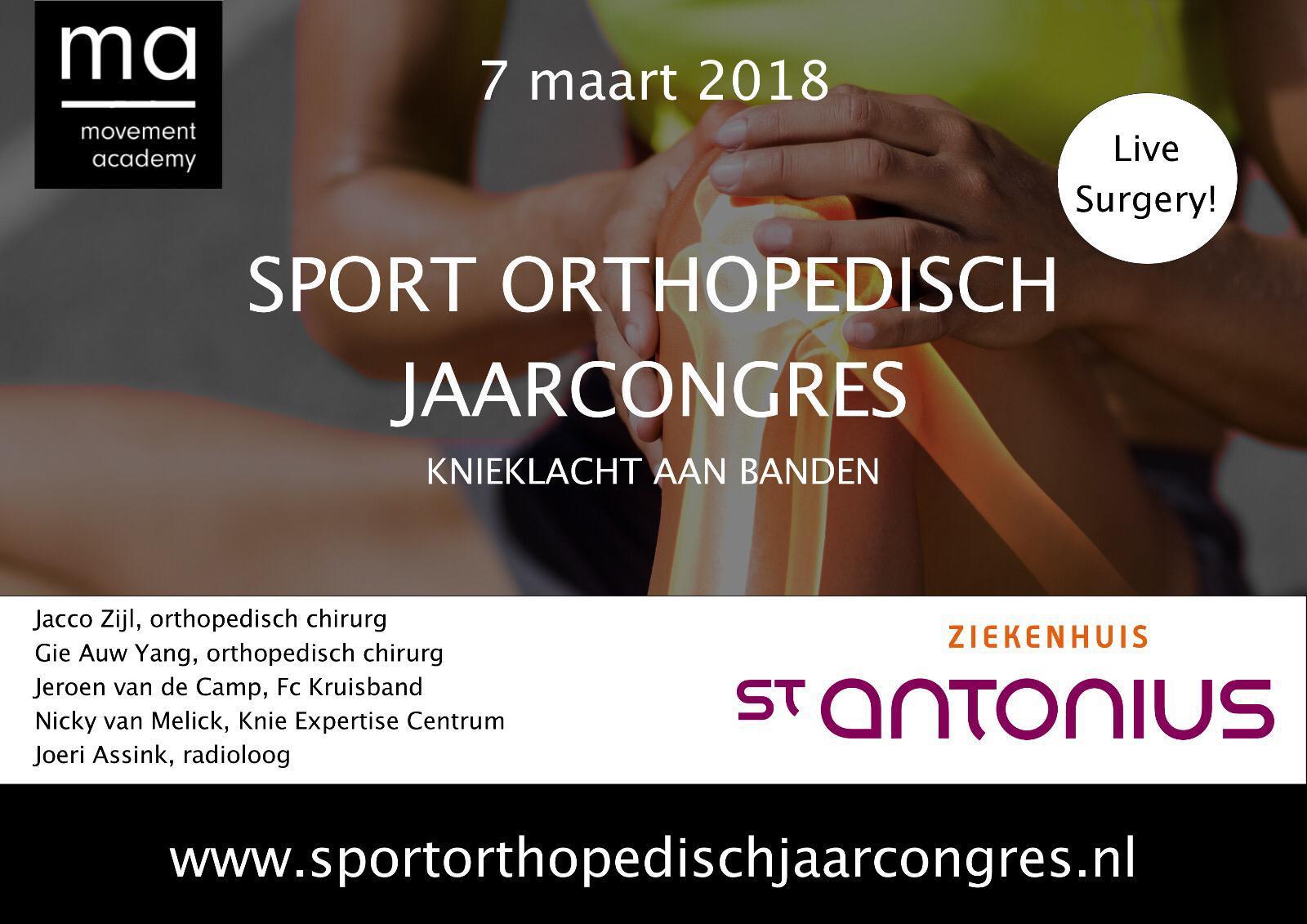 """Sport Orthopedisch Jaarcongres - """"Knieklacht aan banden"""""""